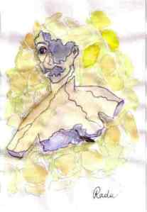 Disegno di Maria ispiratoai personaggi di Coreografia del ghetto storico