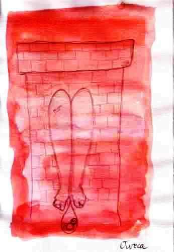 Disegno di Maria ispiratodai personaggi di Coreografia del ghetto storico
